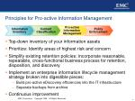principles for pro active information management