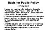 basis for public policy concern