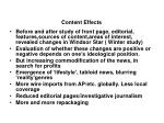 content effects