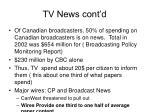 tv news cont d
