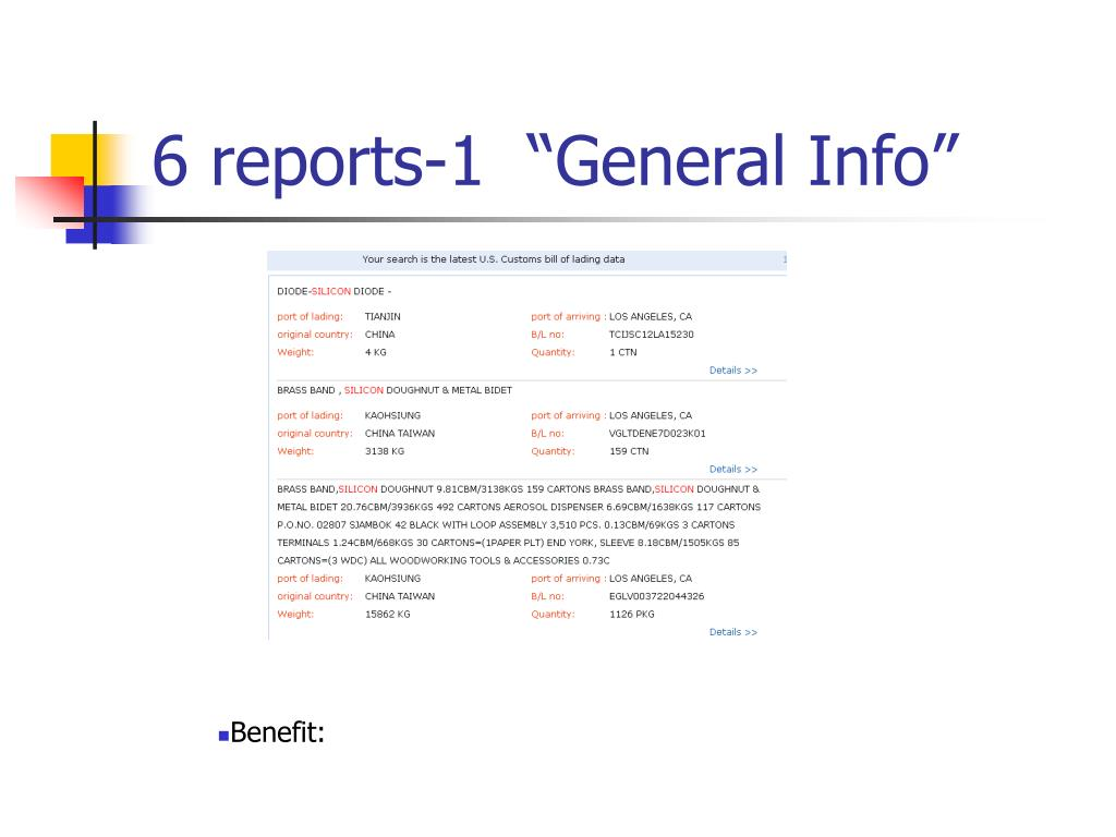 """6 reports-1  """"General Info"""""""