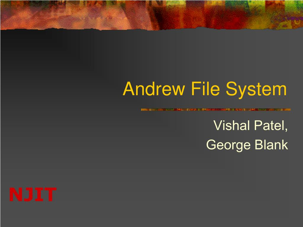 andrew file system l.