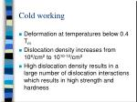cold working