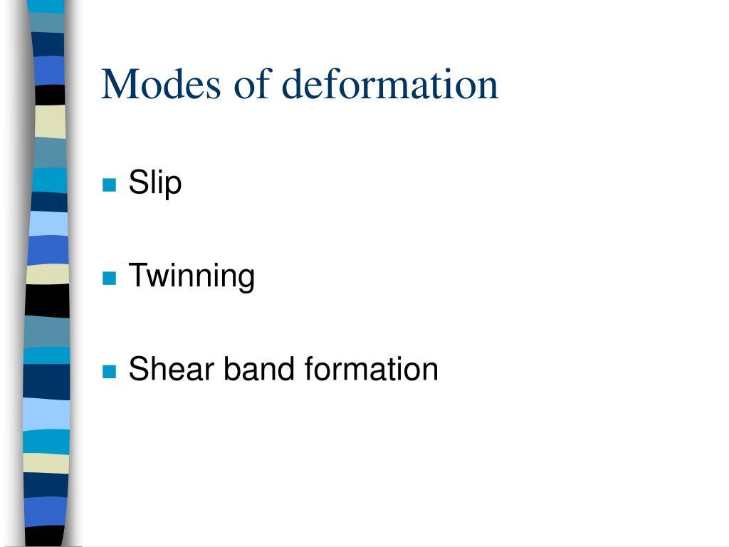 Modes of deformation