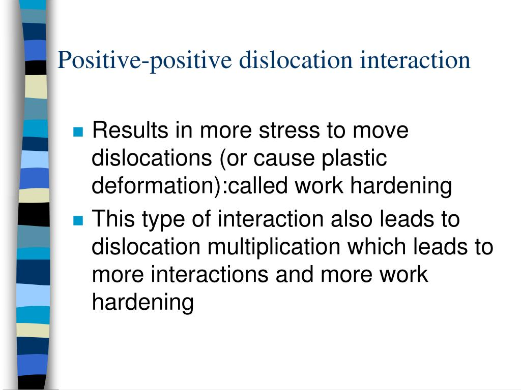Positive-positive dislocation interaction