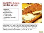 countrylike lasagna from san lorenzo