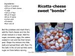 ricotta cheese sweet bombs