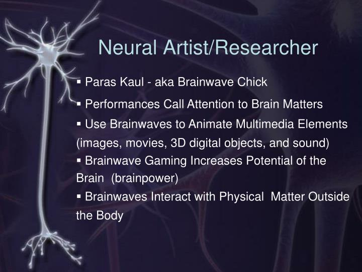 Neural artist researcher