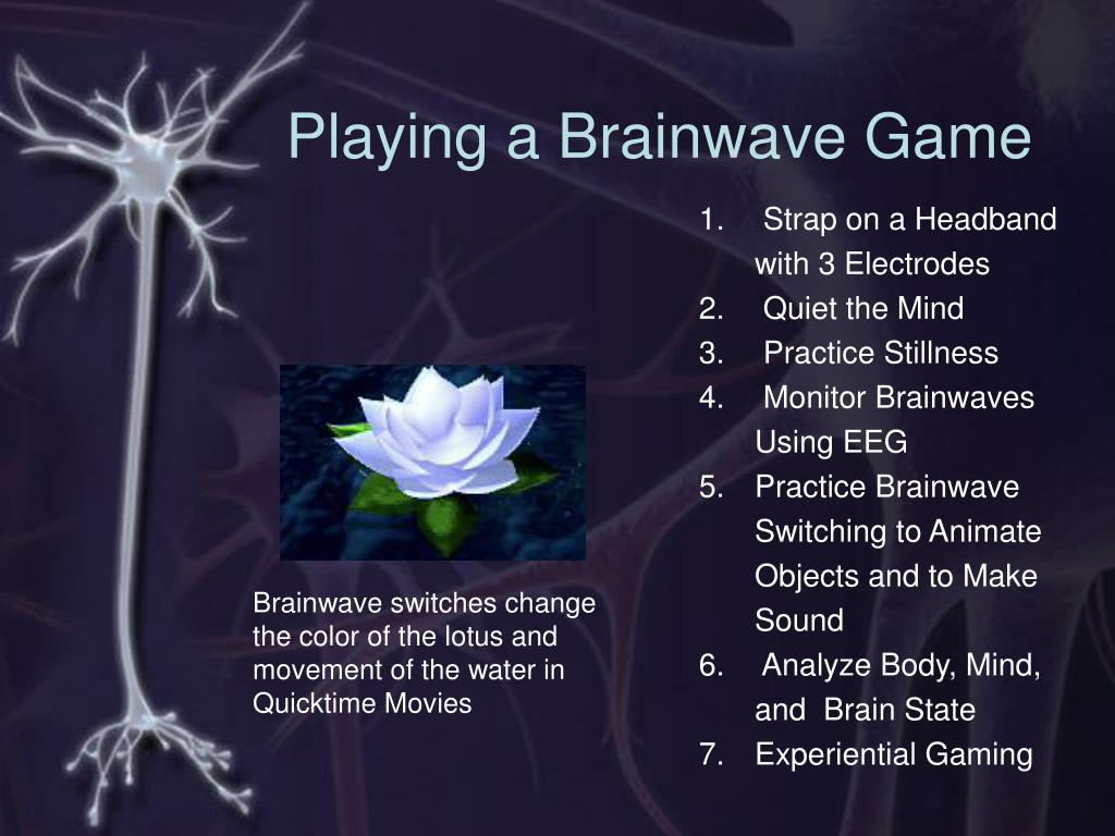 Playing a Brainwave Game