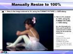 manually resize to 100