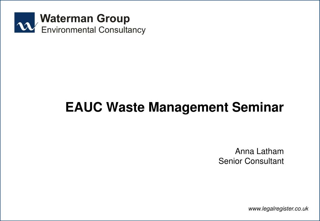EAUC Waste Management Seminar