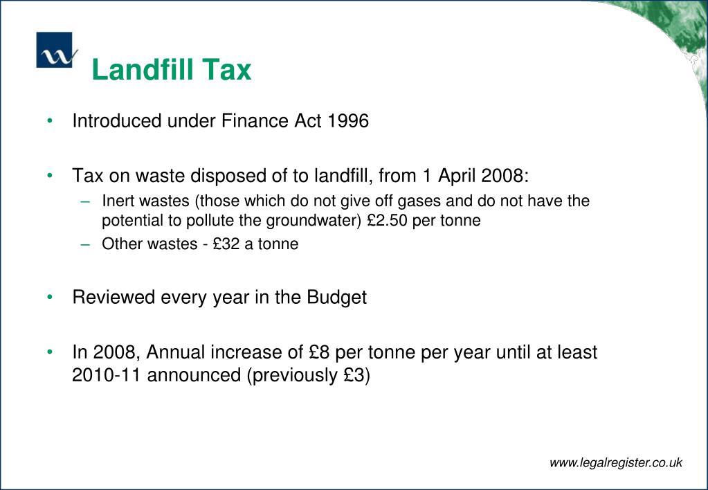 Landfill Tax