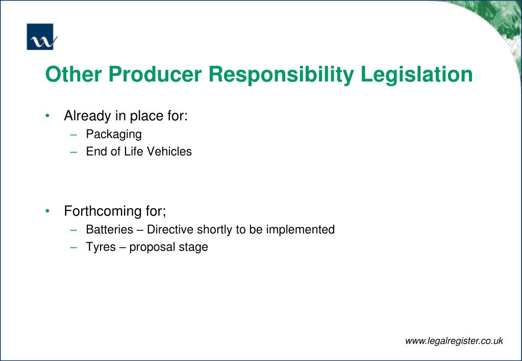Other Producer Responsibility Legislation