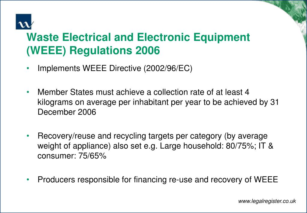 Waste Electrical and Electronic Equipment (WEEE) Regulations 2006