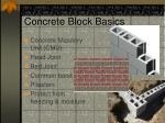 concrete block basics