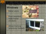 foundation vents and windows