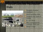 poured concrete foundation walls