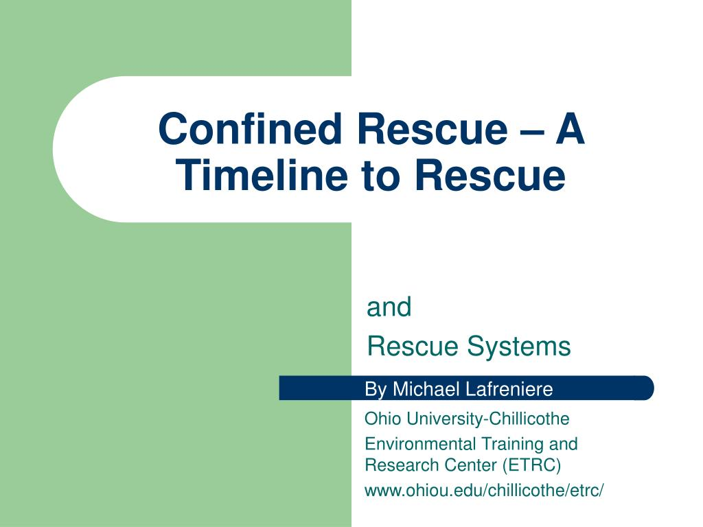 confined rescue a timeline to rescue l.