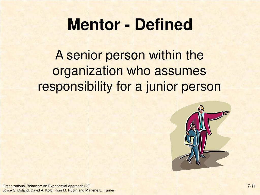 Mentor - Defined