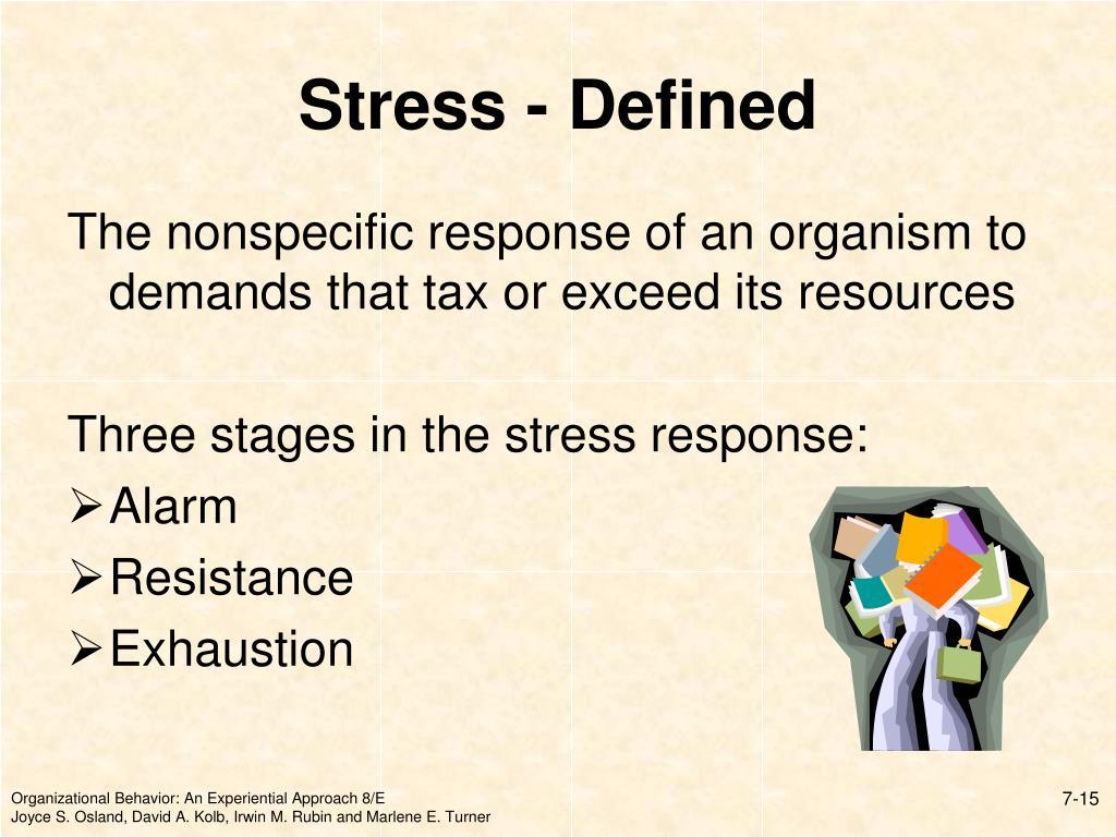 Stress - Defined