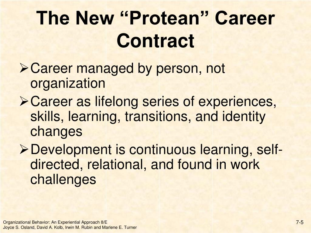 """The New """"Protean"""" Career Contract"""