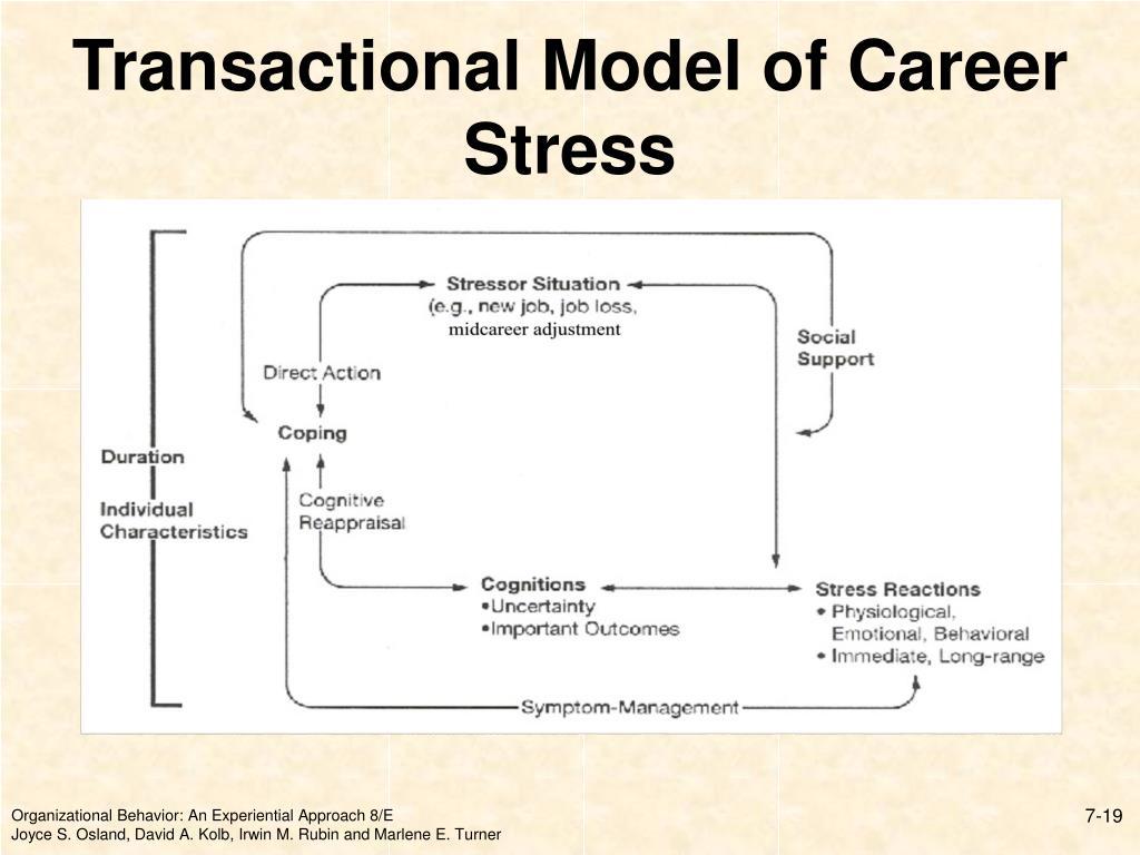 Transactional Model of Career Stress