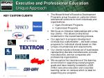 executive and professional education unique approach