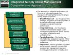 integrated supply chain management comprehensive approach