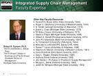 integrated supply chain management faculty expertise