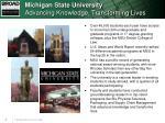 michigan state university advancing knowledge transforming lives