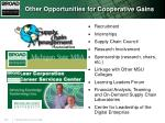 other opportunities for cooperative gains