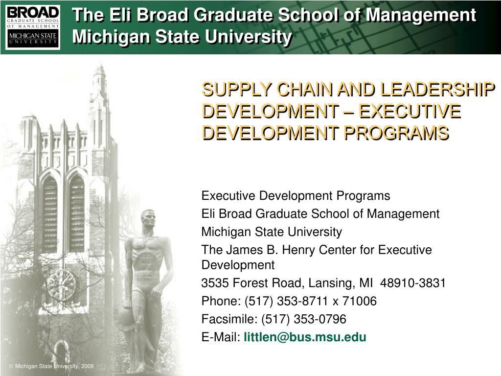 supply chain and leadership development executive development programs l.