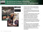 the eli broad college of business the eli broad graduate school of management
