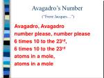 avagadro s number frere jacques