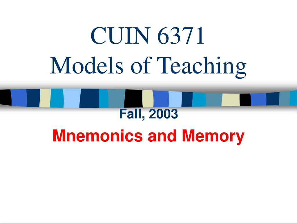cuin 6371 models of teaching l.