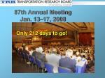 87th annual meeting jan 13 17 2008
