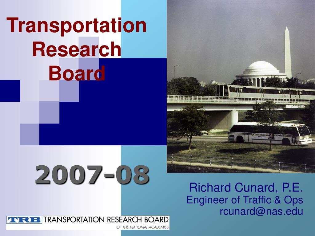 transportation research board l.