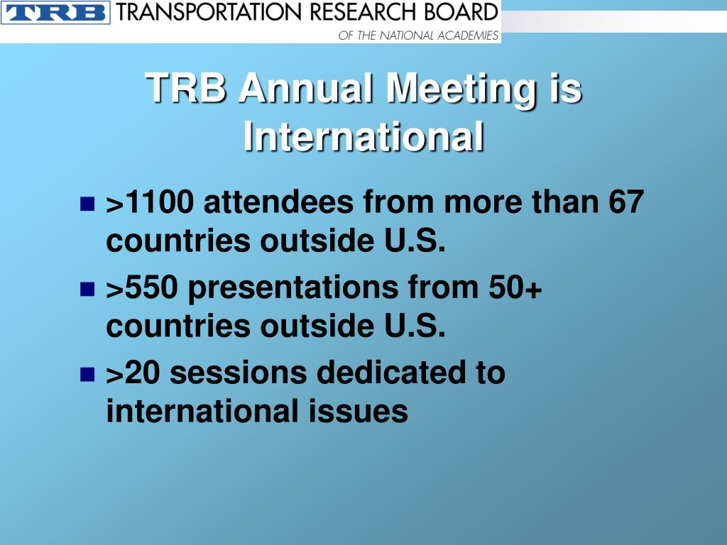 TRB Annual Meeting is