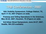 trb conferences 2007
