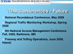 trb conferences future