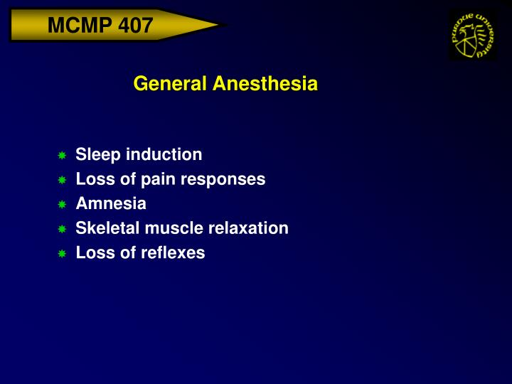 general anesthesia n.
