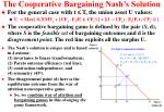 the cooperative bargaining nash s solution