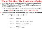 war of attrition the exploratory option