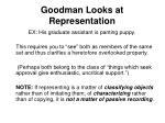 goodman looks at representation45