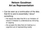 nelson goodman art as representation