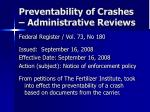 preventability of crashes administrative reviews