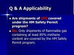 q a applicability
