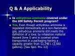 q a applicability5