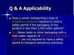 q a applicability6