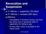 revocation and suspension19